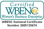Certified WBENC #2005125674